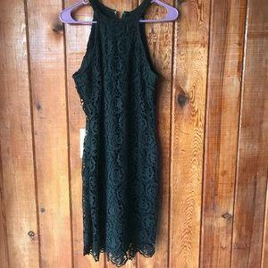 Rue 21 black bodycon lace crochet dress size large